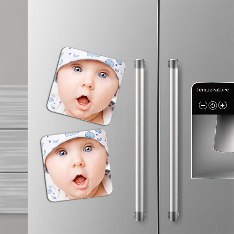 egyedi hűtőmágnes négyzet