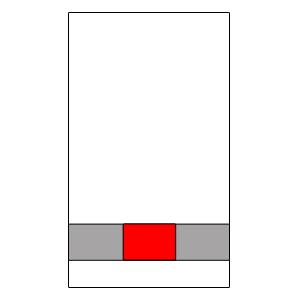 Alul – Középre illesztve