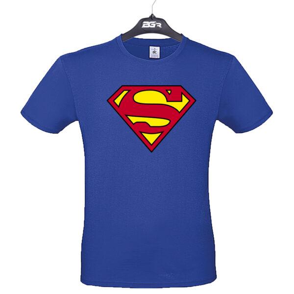 superman póló kék