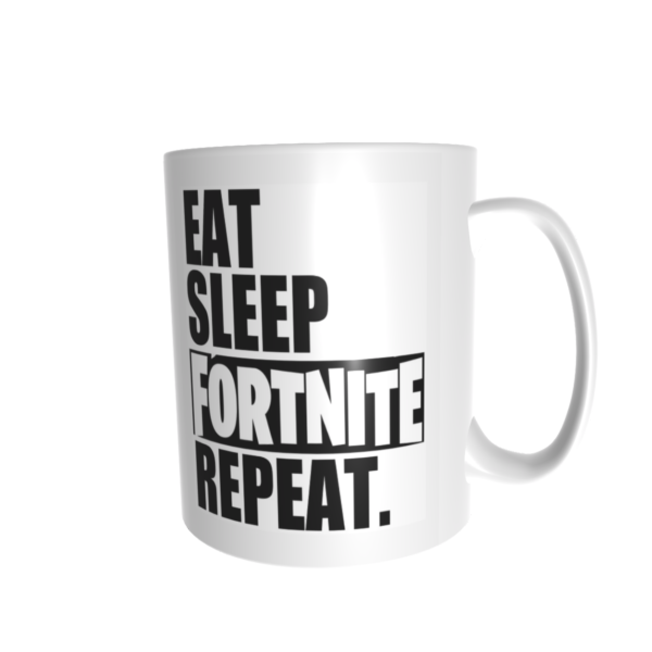 Eat sleep fortnite bögre