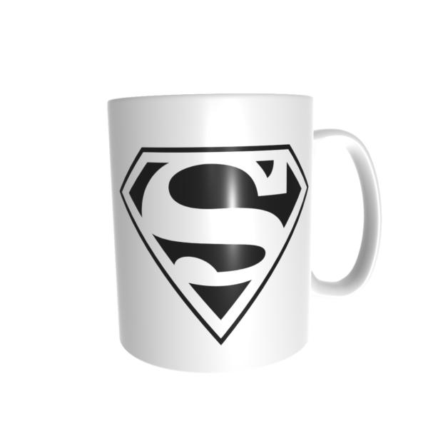 superman bögre fekete fehér