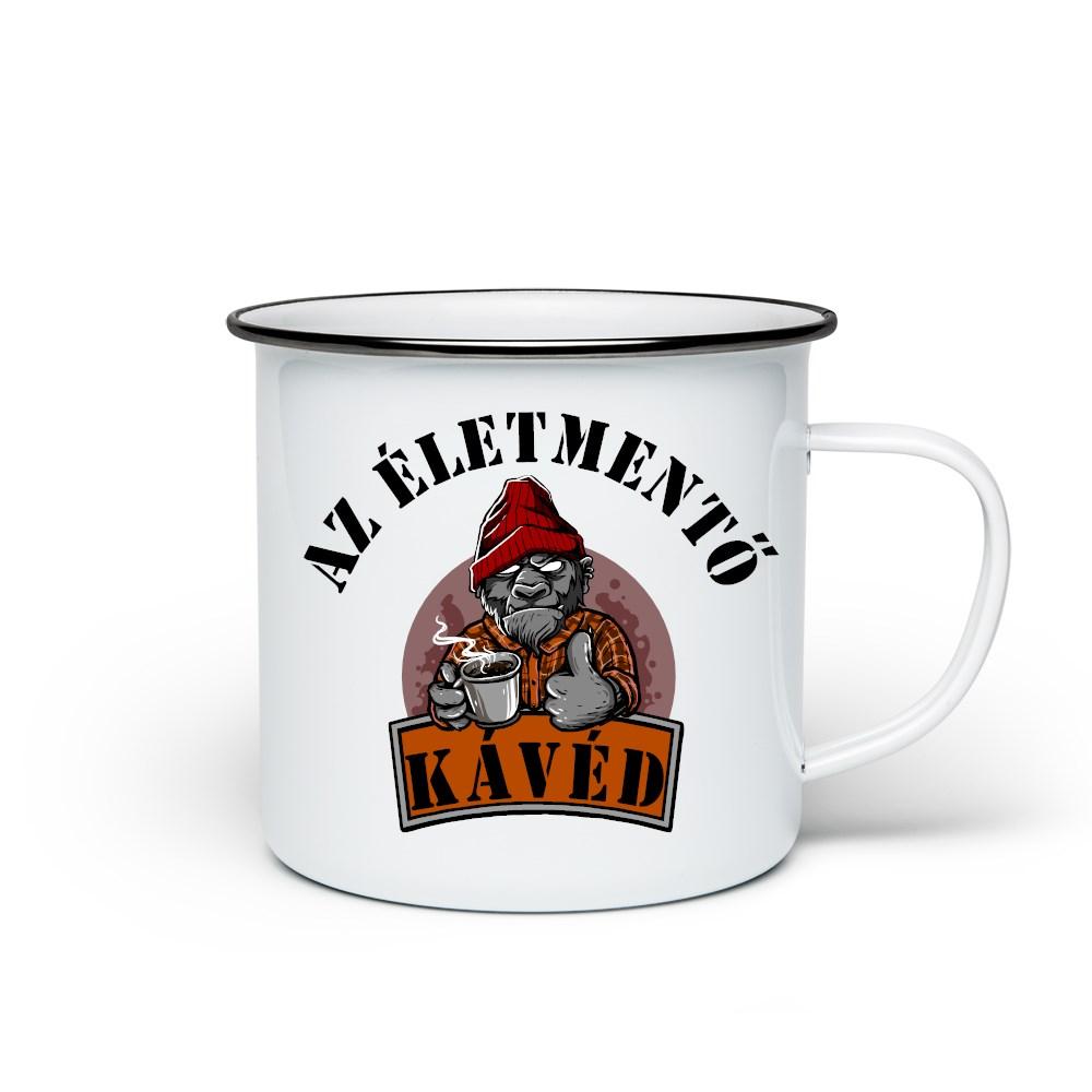 életmentő kávéd retro bögre